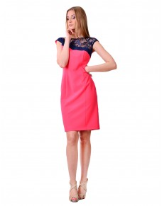 ołówkowa sukienka z koronką 004/15 UNIQUE