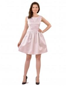 537/2/15 sukienka letnia z metaliczna nitka w lekkim różu