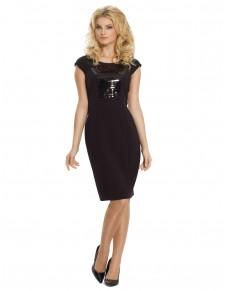 Sukienka wizytowa z typu mała czarna z cekinami 582/15