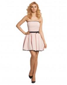 Sukienka bez ramiączek w kolorze różu