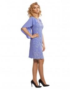 Sukienka koronkowa z pelerynką 533/16