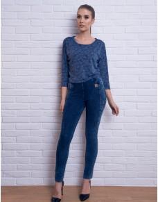 Bawełniane spodnie w kolorze jeansu