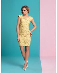 Sukienka koronkowa w kolorze żółtym