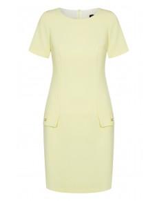 Sukienka ołówkowa w jasno bananowym kolorze