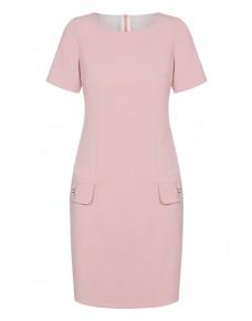 Sukienka ołówkowa w jasno różowym kolorze