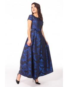 Długa Sukienka Waleria Gala Niebieska